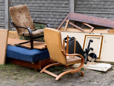 Chairs and household clutter